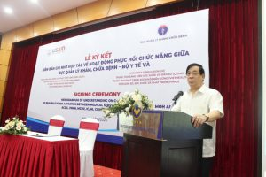 Cục Quản lý Khám chữa bệnh ký kết với 8 tổ chức phi chính phủ về Hoạt động phục hồi chức năng